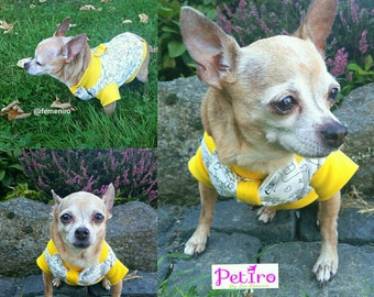 "PETiRO ""Toy Town"" Unisex Dog Sweater with Harness and Bowtie. Dog sweater with D Ring and Bowtie."