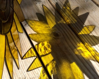 Stained Glass Sunflower - Monogrammable