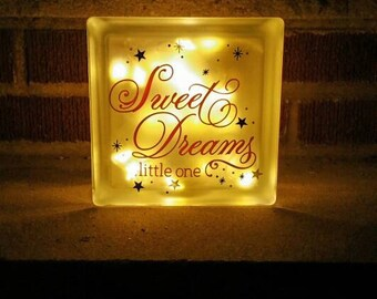Sweet Dreams LED night light for baby or child.