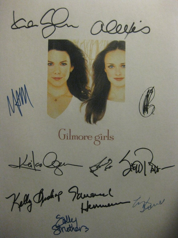 The Gilmore Girls Signed TV Finale Bon Voyage Screenplay Script X11 Autographs Lauren Graham Alexis Bledel Melissa McCarthy Sally Stuthers