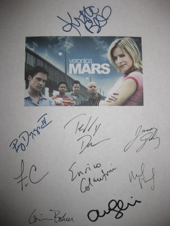 Veronica Mars Signed TV Script Screenplay Autographs x9 Kristen Bell Jason Dohring Amanda Seyfried Percy Daggs III Teddy Dunn Colantoni