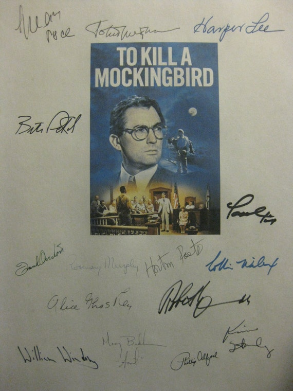 To Kill A Mockingbird Signed Film Movie Screenplay Script Autographs X15 Gregory Peck Harper Lee Frank Overton Robert Duvall John Megna
