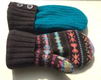 Fleece Lined Wool Mittens