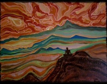 """Paintingoncanvasbymilly.Original piece. """"Get to the Top"""""""