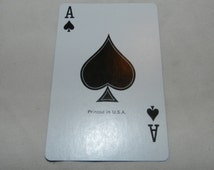 Moen Faucet Single swap playing card - advertising on back and Ace of Spades on front - standard size card - Collectible Ephemera       2-11