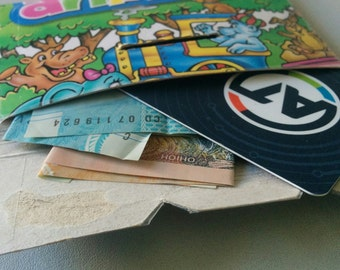 Iced Animals: Handcrafted Upcycled Cardboard Wallet
