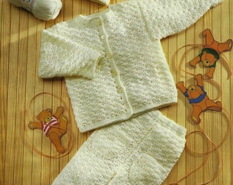 Baby Cardigan, Trousers And Hat, Crochet Pattern. PDF Instant Download.