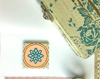 QUEMOLICA SUMMER【Rosé Champagne】masking tape / washi tape / Flora / Art Nouveau / Continuous Patterns Active