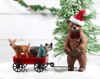 Christmas Bear Christmas Mantle Decor Christmas Party Decorations Woodland Christmas