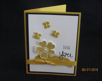 Watercolor style Thank you Cards