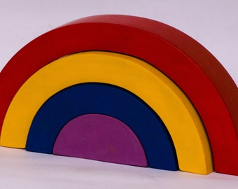 Puzzle, Rainbow Wooden