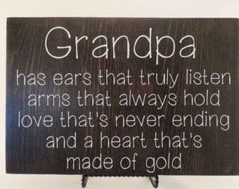 Grandpa - Wood Quote Sign - Fathers Day Gift - Handmade - Best Gift Ever