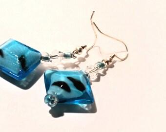 Adorable Blue Drop Earrings