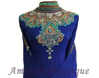 Luxury Farasha Kaftan Maxi Dress Gown Abaya Jalabiya Jilbab