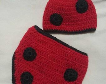 Newborn ladybug diaper cover