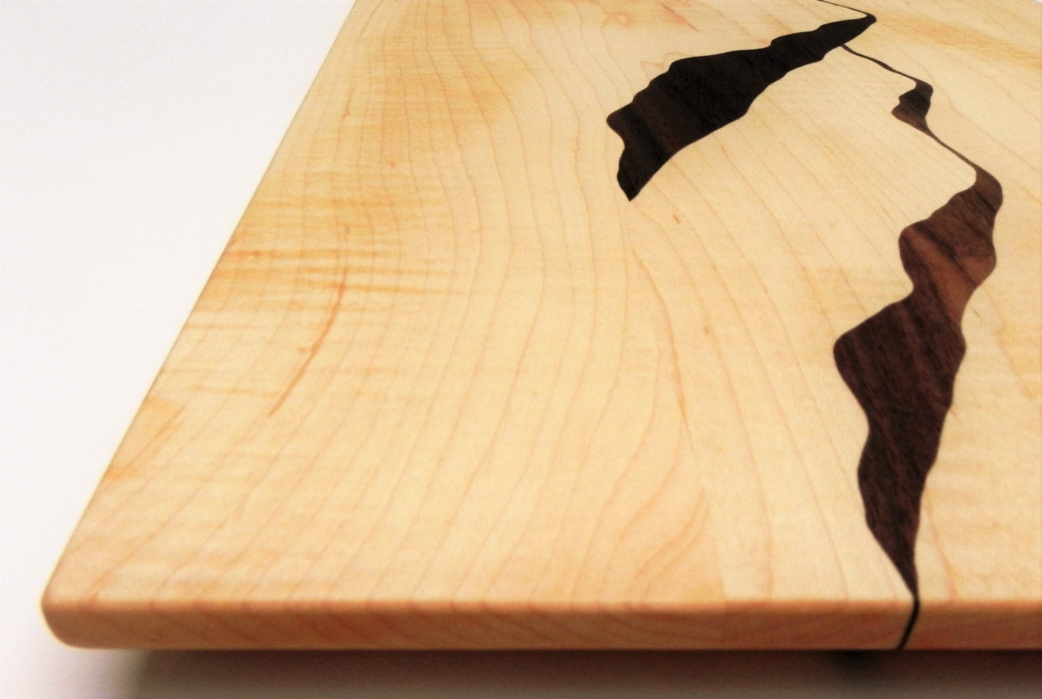 Mountain View Wood Cutting board Mountains Mountain View