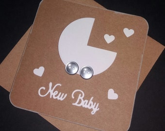 New Baby Card - White