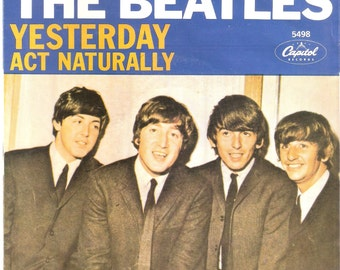 The Beatles-Yesterday/Act Naturally-Capitol Records