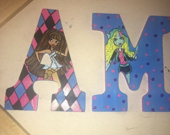 Monster high painted letters