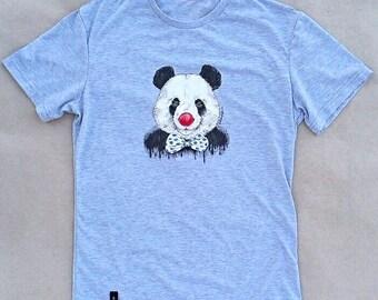 "T-shirts , drawing with acrylic ""Funny panda"""