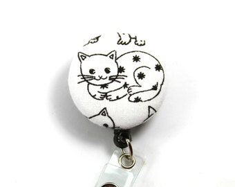 CAT Badge Reel, Retractable Badge Holder, Cat Lanyard, Cat Badge Reel, Cat Button Badge