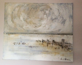 Original Seascape Acrylic and Mix Media Painting