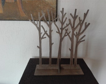 Wooden jewelry tree stand, Jewelry organizer, Jewelry storage, Jewelry display, Wooden jewelry holder