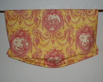 Waverly Vignette Toile Rooster Valance for French Door