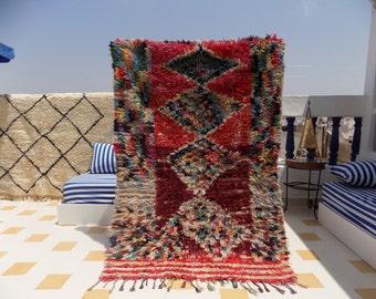 Moroccan Rag Rug / Boucherouite / Bohemian / Tribal / Ethnic / Berber / Vintage