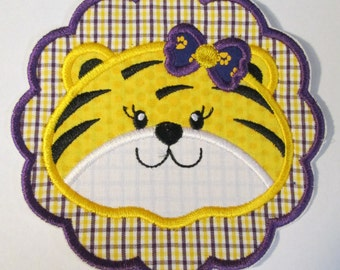Ready To Ship in 3-5 Business Days - Tiger Scallop - Iron On or Sew On Embroidered Applique