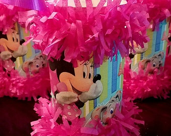 Mini Pinata Party Favors Minnie Mouse Goodie Bags Party Bags Birthday Minnie Mouse