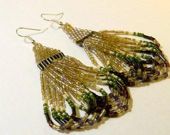 Handmade Native American Beaded Earrings