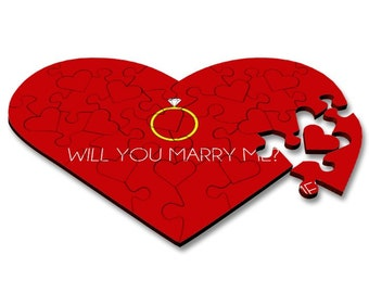 Will you marry me, heart shaped jigsaw, wedding proposal, marriage proposal
