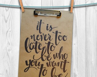 Hand-drawn Quotes on Clipboards! (Customization Available)