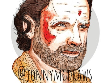 "Rick Grimes ""The Walking Dead"" A5 Portrait Print"