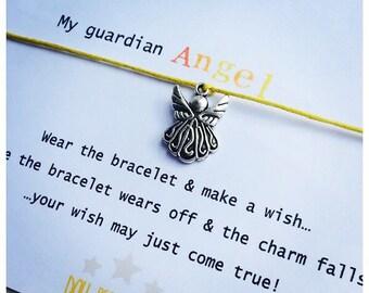Wishing Bracelet 'My Guardian Angel' Gift