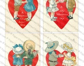 Valentine's Day Images #5 - 5 Pack of Printable Digital Collage Sheets - Instant JPEG Downloads