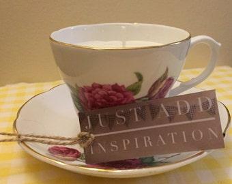 Vintage Tea Cup Soy Wax Candle