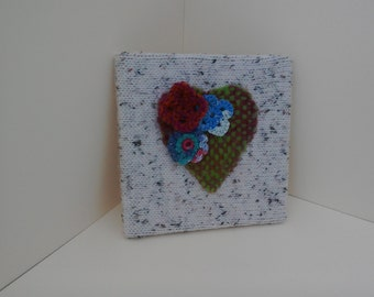 Journal with hand knitted cover. Approximate size 200mm square