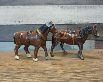 Vintage Britains Shire Horse Shirehorses Lead Metal Vintage Toys Britains Farm Animals