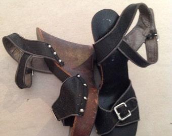 That 70's Look Pair of Wedge Heels