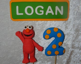 Elmo Inspired Cake Toppers (set of 3)