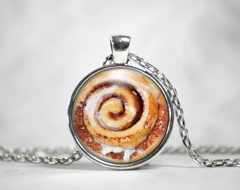 Cinnamon Roll Necklace or Keychain