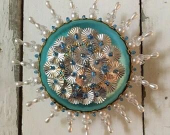 Vintage sequin ornament