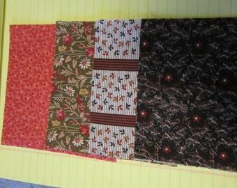 Vintage Brown Fabric Samples 1890s