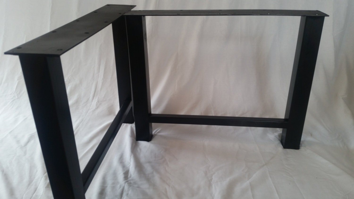 metal h frame table legs by basemetaldesign on etsy