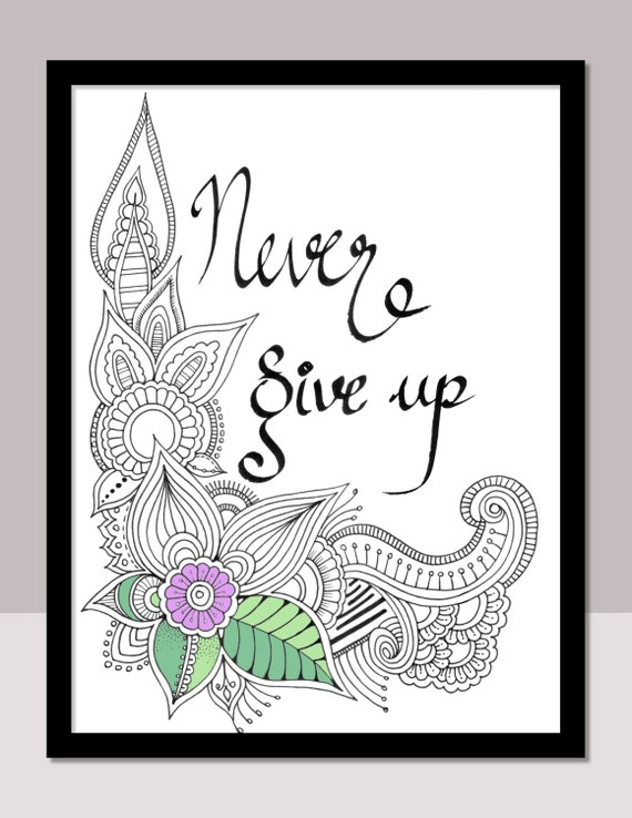 Never Give Up Instant PDF Download