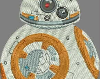 Star Wars Embroidery Design BB8 bb-8 Force Awakens space  robot 71*113mm