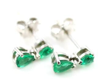Stunning Emerald Teardrop Earrings