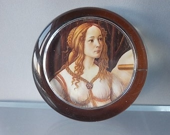 Venus & Mars Paperweight, 1992 National Gallery, Collectible, Glass Paperweight, Desk Paperweight,  Sandro Botticelli Painting Paperweight.